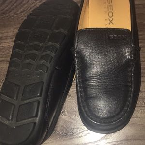 Geox boys leather loafers